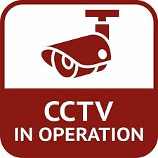 CCTV In Operation Closed Circuit Television Sticker Decal Graphic Vinyl Label