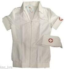 New Nurse Fancy Dress Short Dress & Hat Size Small Costume Short Jacket Roleplay