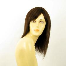 Perruque femme 100% cheveux naturel châtain ref MARIA 6