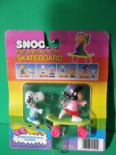 Free Wheeling Skateboard New Peanuts Snoopy & Lucy Figures 1985