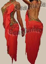 L1865 Ballroom Red Sexy Latin Cha Cha Ramba Samba Party US 4 Dance Dress