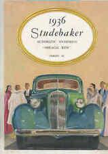 1936 Studebaker Dictator President Series II Brochure England Export wt7612
