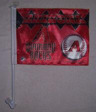 NEW 11X15in 2 SIDED ARIZONA DIAMONDBACKS LIC MLB BASEBALL STORE CAR WINDOW FLAG