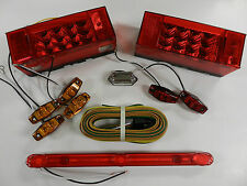 Submersible Trailer Rectangle LED Light kit, Stop Turn Tail, with ID Bar light