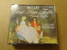 3 CD BOX / MOZART - KUIJKEN - LA PETITE BAND: COSI FAN TUTTE
