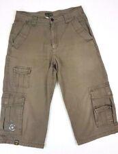 Jeep Beige Mens Long 3/4 Cargo Shorts Size 30 6 Pocket
