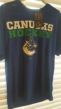 Vancouver Canuck Hockey T-shirt NHL Mens Medium Blue NWT