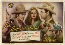 Programme Espagnol FEMME DE FEU Ramrod JOEL McCREA Veronica Lake FOSTER 1947