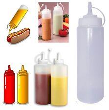 12oz 355ml Prep Squeeze Bottle Dispenser Oil Sauce Restaurant Kitchen Ketchup