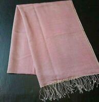 """Women's Scarf Oblong 78"""" Rectangle Fringed Fringe Pink Wrap Shawl"""