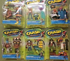 Crash Bandicoot | Series 2 Two | Resaurus 1999 | Complete Set Of 6 Action Figure