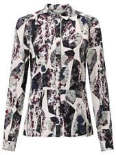 Numph Nilea Printed Shirt Sea Spray Size UK 14 rrp £39 DH180 EE 20