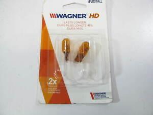(2) Wagner BP2827NALL Long Life Amber Turn Signal Side Marker Lamp Light Bulb