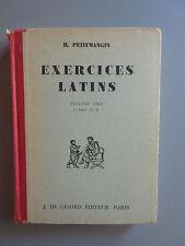 Exercices Latins par H. Petitmangin 2e Série Classe de 5e (J. De Gigord 1957