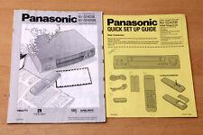 PANASONIC NV-SD420B NV-SD420BL Video player video recorder owner user manual