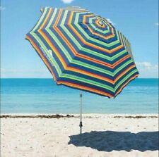 8-ft Tommy Bahama Beach Umbrella Aluminum Pole Tilt Option Wind Vent Sand Anchor