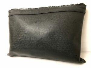 Louis Vuitton Taiga Pouch Black Clutch Hand bag Auth Monogram Case