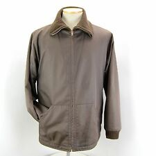DUNHILL BROWN COTTON WOOL CASHMERE RIBBED REVERSIBLE JACKET COAT BLUSON M ITALY