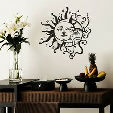 Sun And Moon Stars Wall Sticker Inspirational Vinyl Ethnic Removable Art Decor