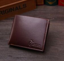 Mens Leather Bifold Wallet Credit Card ID Holder Cash Coin Purse Clutch Handbag