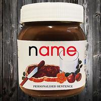 Personalised Name Nutella Label - Birthday Christmas Stocking Gift - Free P&P