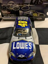 2007 Jimmie Johnson Gold Autographed #48 Lowes Vegas Win 1/24