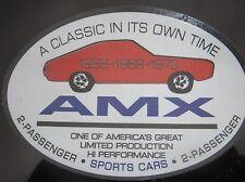 AMC AMX emblem decal 68 69 70 classic sportscar 2 passenger car vintage javelin