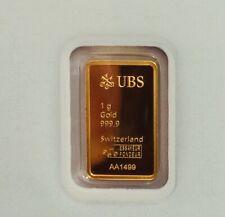 UBS Goldbarren 1 gramm Blister