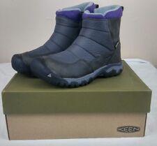 Keen Hoodoo III Low Zip Women's Sz 7.5 Earl Grey/Purple Winter Boots New