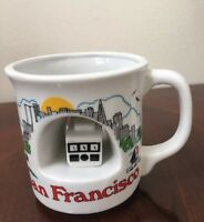 San Francisco Unique Coffee Cup Hallowed Out With Cable Car In Middle