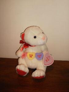 """""""HALLMARK"""" WHITE BEAR -""""BE MINE""""/""""HUG ME""""/""""LOVE YA HEARTS # NO2"""