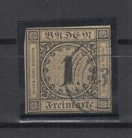 T4204/ GERMANY – BADEN – MI # 1a USED SIGNED ENGEL – CV 1145 $