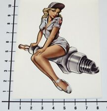 PIN UP SPARK PLUG Aufkleber Sticker Speedshop Girls V8 OEM Ladys OldSchool Pu048