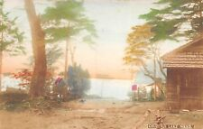 Chuzenji Lake Nikko Japan c1910 Postcard Hand Colored