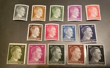 WW2 WWII Nazi Germany 14 Adolf Hitler head stamps -MNH-