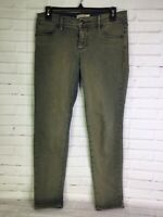 FP Free People Womens Sz 28 Green Vintage Wash Skinny Stretch Ankle Denim Jeans