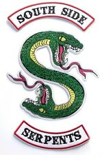 Riverdale TV Series Southside Serpent 3 Piece Iron On Large Jacket Patch Set