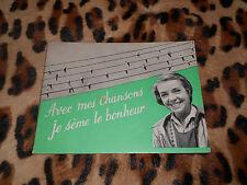 AVEC MES CHANSONS JE SÈME LE BONHEUR - Marie-laire Picaud - Coeurs vaillants