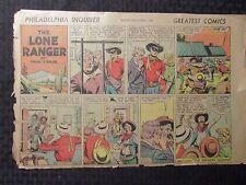 "9/21/1941 Lone Ranger 15x10"" Sunday Color Newspaper Strip G/Vg 3.0"