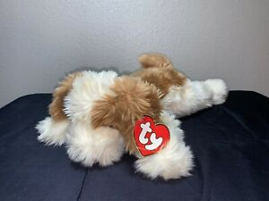 """RARE Ty Beanie BUDDY Large PATCHES Dog 1995 Retired with TAG 17"""" HTF Plush Toy"""