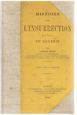 ALGERIE-RINN-HISTOIRE DE L'INSURRECTION DE 1871 EN ALGERIE-LIVRE ANCIEN RARE