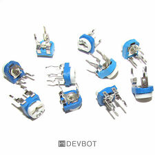 Kit potentiomètre 2 x 10 valeurs de 100 Ω à 1M Ohm. 20 pièces. Arduino, DIY, Pi