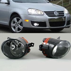 Pair Front Bumper Convex Lens Fog Light Lamp For VW Golf GTI Jetta MK5 Tiguan