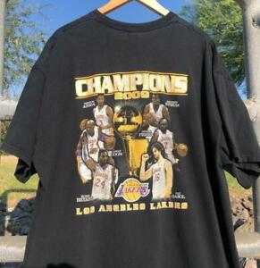 Gildan Los Angeles Lakers 2009 NBA Champions Kobe VTG Graphic Rap T Shirt 2XL