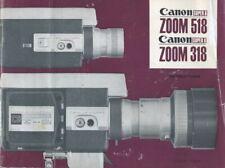 Canon Zoom 518 Super 8, Zoom 318 Super 8 Instruction Manual