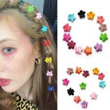 30 Pcs Girls Mini Hair Clips Plastic Hair Claws Mix Colour Flower Hairpin Clamps