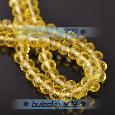 Wholesale Crystal Glass Loose Spacer Beads Rondelle Faceted 4MM 6MM 8MM 10MM