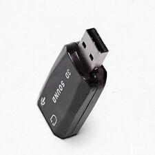 USB 2.0 5.1 Kanal 3D Soundkarte extern Headset Audio Sound Adapter Karte