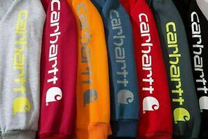 new / Mens Hoodie Womens Carhartt Printing Hooded Sweatshirt Loose Casual - AU