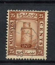 Maldive Islands 1933 SG#18A 25c Brown Used #A78130
